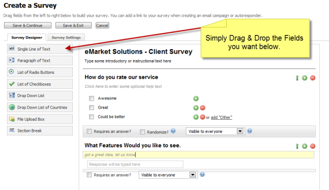 email survey software